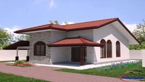 metal roof and stucco siding