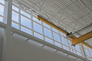 Metal ceiling and window