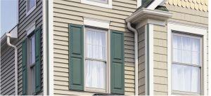 Window siding yellow and green