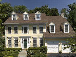 Roofing, stone, doors, windows yellow